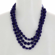 Blue Beaded Necklace Indian Handmade Costume Jewellery Fashion