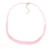 Sterling Silver Pink Quartzite Graduation Journey Necklace