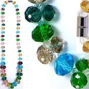 Mardi Gras Graduated Faceted Crystal Necklace