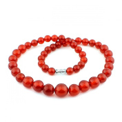 O-stone Natural Red Agate Family Beads Collection 8-14mm45cm Bracelet Necklace Grounding Stone Protection