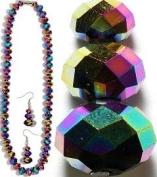 Aura Purple Crystal Necklace & Earrings
