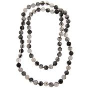 Pearlz Ocean Black Rutilated Quartz Endless Necklace 91cm Long