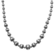 Sterling Silver Native Pearl Graduated Bead Necklace - 50.8cm