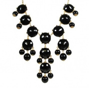 big black facets Bubble Statement Necklace, Chunky Bubble Necklace,Bubble black NecklaceWP-B132