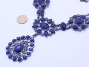 New luxury blue crystal necklace Bib Necklace