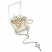 Cream Colour Pearl Rosary Bead Necklace