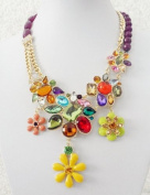 2013 new luxurious rhinestone & crystal flower necklace,fashion necklace,bubble Bib Necklace