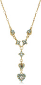 Antiquities Couture Vintage-Inspired Couture Gold-Tone and Turquoise Coloured Y-Necklace