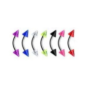 7 Piece Mixed Uv Lot Curved Spike Eyebrow Body Jewellery Piercing Bar Ring Rings Body Accentz