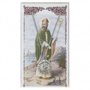St Patrick Prayer Card With Medal Charm Patron Saint Catholic Christian Pendant