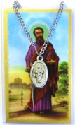 St Paul Prayer Card With Medal Patron Saint Catholic Christian Pendant Charm