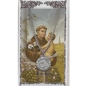 St Anthony Prayer Card With Medal Patron Saint Catholic Christian Pendant Charm
