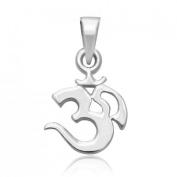 925 Sterling Silver OM OHM AUM Charm Pendant