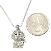Adorable Little Monkey Charm Pendant Necklace Fashion Jewellery