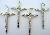 Silver Gild Cross Rosary Parts Religious Christian Crucifix Made In Italy LOT 4
