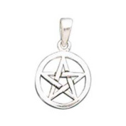 Small Pentacle Pendant Sterling Silver