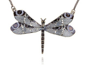 Golden Dragonfly Butterfly Bug Pearl Bead Elegant Pearl Bead Fashion Necklace