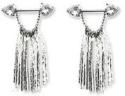 Body Accentz. Nipple Ring Bars Heart Dangle Body Jewellery Pair 14 gauge Sold as pair