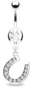Body Accentz. Belly Button Ring Navel Horseshoe Body Jewellery 14 Gauge HO162