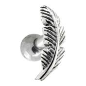 LEFT EAR - Nature Leaf Sterling Silver Cartilage Piercing Earring Stud