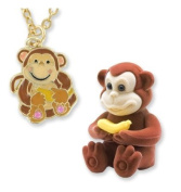 Monkey Pendant Necklace in Monkey Shaped Gift Box