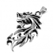 Steel Pendant - Dragon