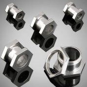 Stainless Steel Screw Fit Hexagon Flesh Tunnel - 00G (10mm) - Sold as a Pair