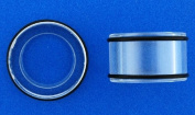 Large Gauge -32mm / 1 1/4in - Super Acrylic Flesh Tunnels -Clear - Sold as a Pair