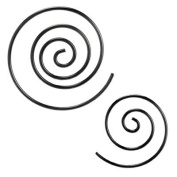 Small PVD Black Coated Spiral Taper - 14g (1.6mm) - Sold as a Pair