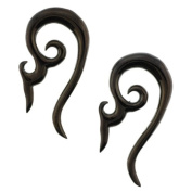 Black Anodized Stainless Steel Devil Horns Expanders - 14G - Sold as a Pair