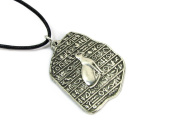 Egyptian Goddess Bastet Pewter Pendant on Cord Necklace, The Egyptian Collection