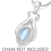 Natural Moonstone 925 Sterling Silver Pendant