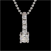 1/2 Carat Sterling Silver CZ Pendant
