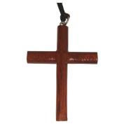 Hawaiian Jewellery Koa Wood Extra Large Cross Pendant Necklace From Hawaii