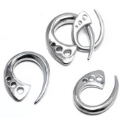 Terrestial Claw Taper made from 316L Surgical Stainless Steel - 4g (5mm) - Sold as a Pair