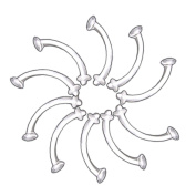 10 Pack 16g Clear Eyebrow Retainers