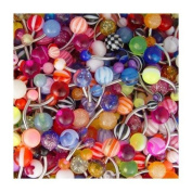 Body Colorz. Belly Button Ring Assortment 14 Gauge 1.1cm Qty 20