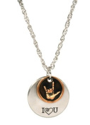 Necklace, I Love You American Sign Language 2-piece - JNL067