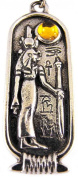 Egyptian Birth Sign Isis Pendant Cord Necklace Feb-Mar