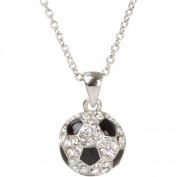 Heirloom Finds Sports Silvertone Crystal Enamel Soccer Ball Pendant
