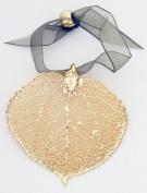 Leaf Ornament - Gold Plated Aspen. Real Leaf!
