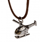 Woman's Silver Mini Helicopter Necklace