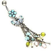 Body Colorz. Belly Button Ring Navel Butterfly Body Jewellery 14 Gauge