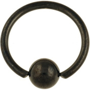 One PVD Stainless Steel Captive Bead Ring