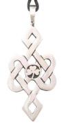Irish Shamrock Celtic Pattern Pewter Pendant Necklace