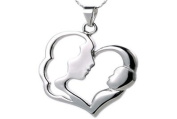 Stainless Steel Mother with Baby Pendant