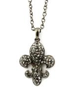 Gunmetal Fleur-de-lis Necklace