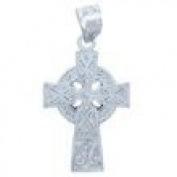 Sterling Silver Celtic Cross Medium Pendant