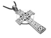 Celtic Irish Cross Pewter Pendant Necklace