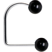 16 Gauge Black Acrylic Ball Lippy Loop Labret